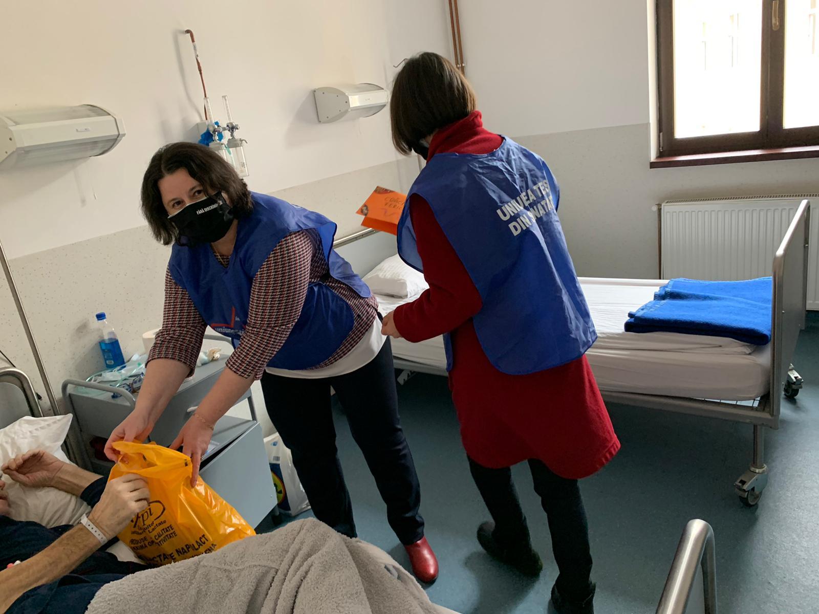 Daruri pentru pacienții Spitalul de Pneumoftiziologie: o nouă stație de oxigen, concert de colinde, dulciuri și felicitări