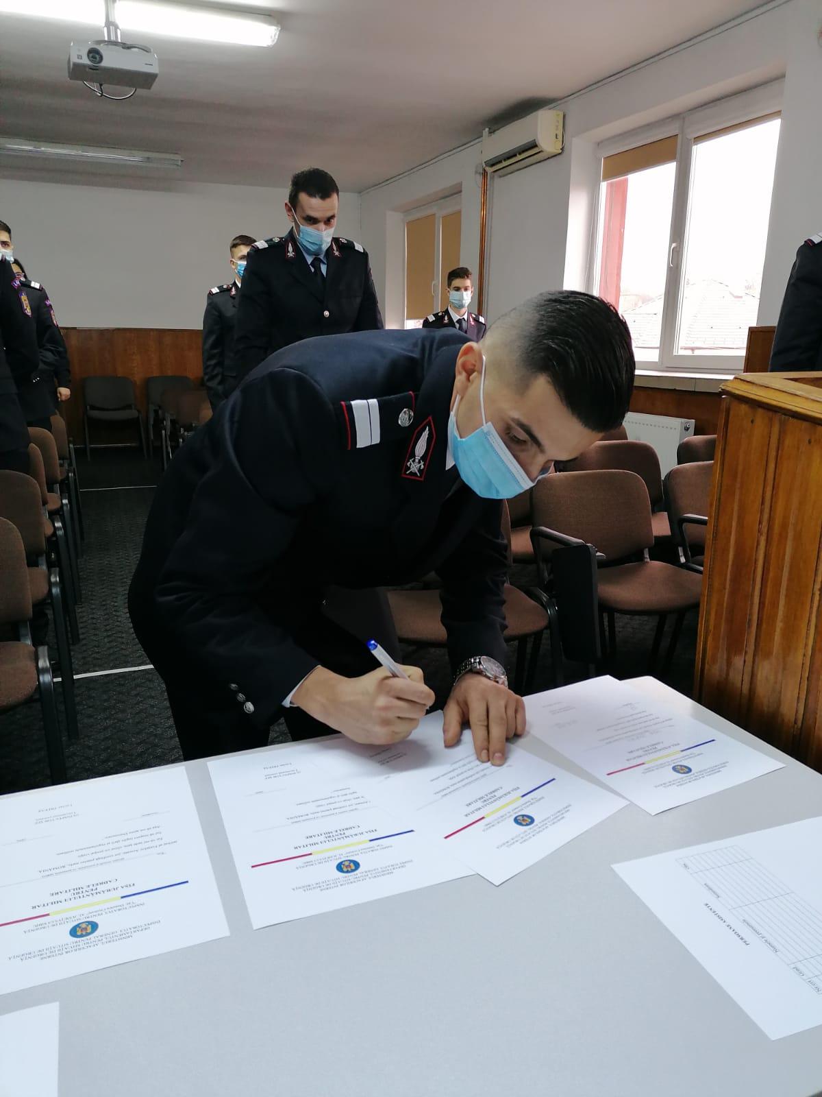 ISU Sibiu – Activități de comemorarea a eroilor martiri și depunerea jurământului militar pentru absolvenții Școlii de Subofițeri Boldești