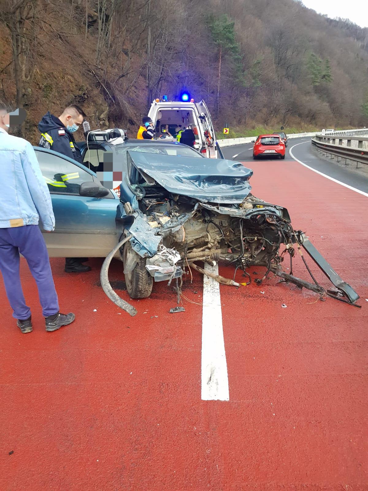 Accident rutier grav, produs pe DN 7 în zona Lazaret