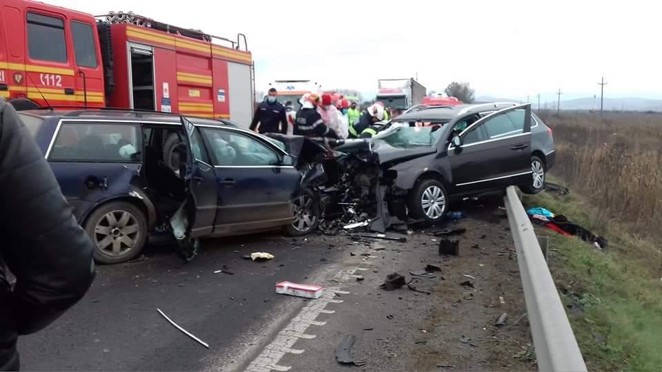 Avrig | Accident soldat cu 2 morți și 3 răniți | Foto