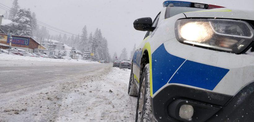 IPJ Sibiu: Îi sfătuim să circule prudent, să adapteze viteza la condițiile de drum