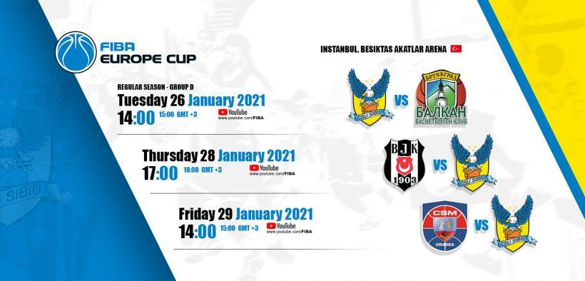 Aventura lui BC CSU Sibiu din sezonul regulat al FIBA Europe Cup