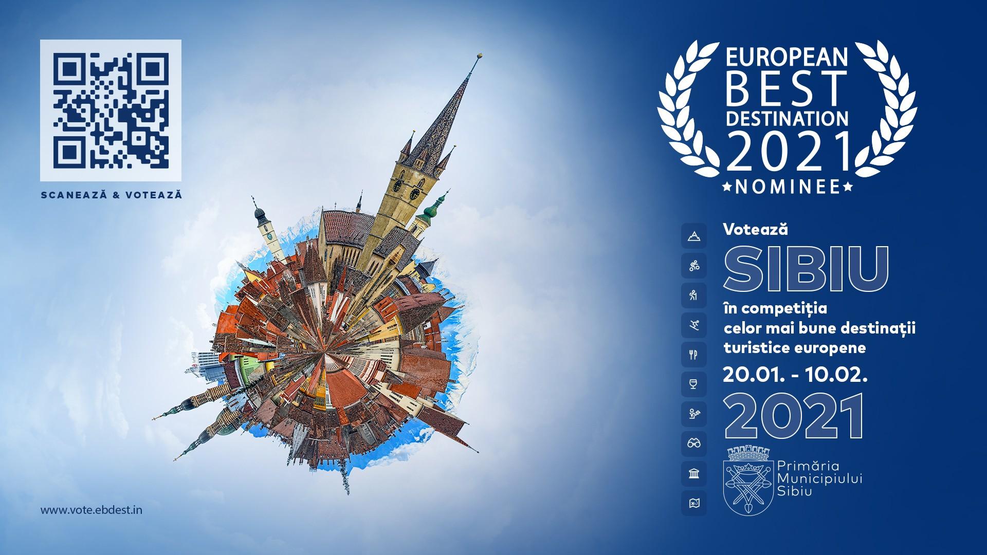 Votați Sibiul în competiția pentru cele mai bune destinații turistice europene în 2021