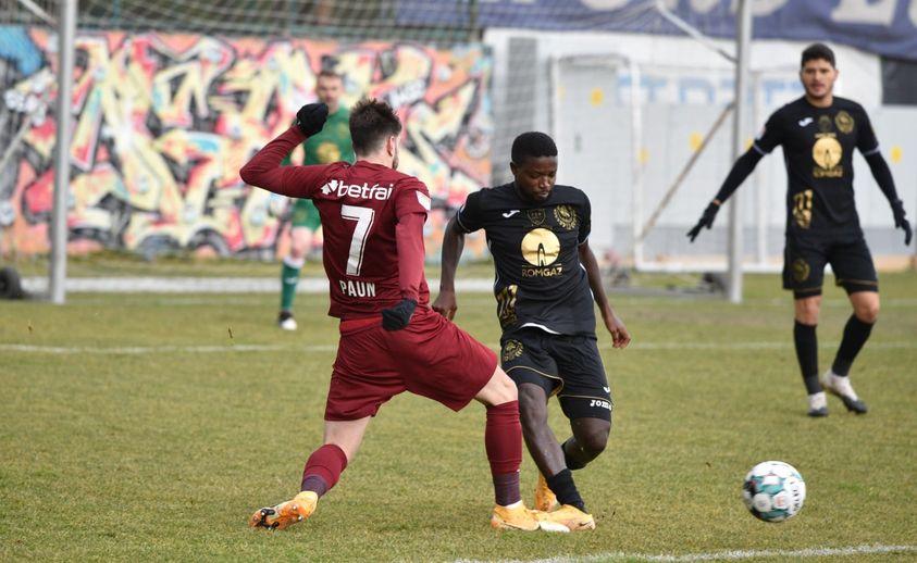 Gaz Metan a remizat, scor 1-1, cu CFR Cluj