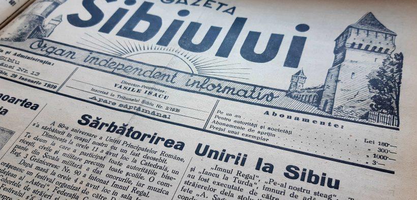 24 ianuarie 1859 – Mica Unire în colecțiile Bibliotecii Județene ASTRA Sibiu