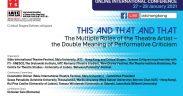 Constantin Chiriac deschide conferința Asociației Internaționale a Criticilor de Teatru (IATC) Hong Kong