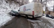 FOTO- Accident rutier grav la intrarea în localitatea Laslea