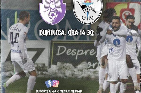 Gaz Metan Mediaș joacă în deplasare contra echipei FC Argeș