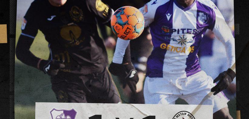 Formația lui Jorge Costa a încheiat la egalitate partida cu FC Argeș, scor 1-1