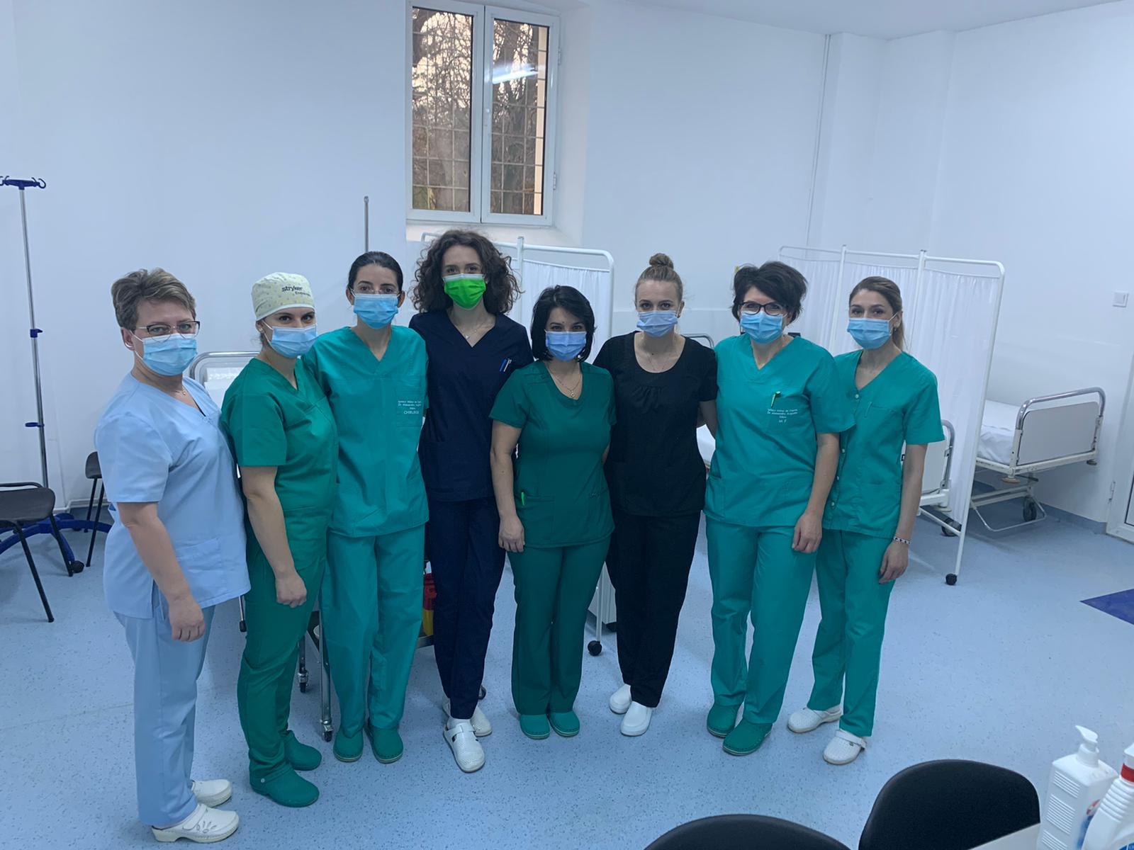 FOTO- Spitalul Militar Sibiu a început campania de vaccinare anti-COVID