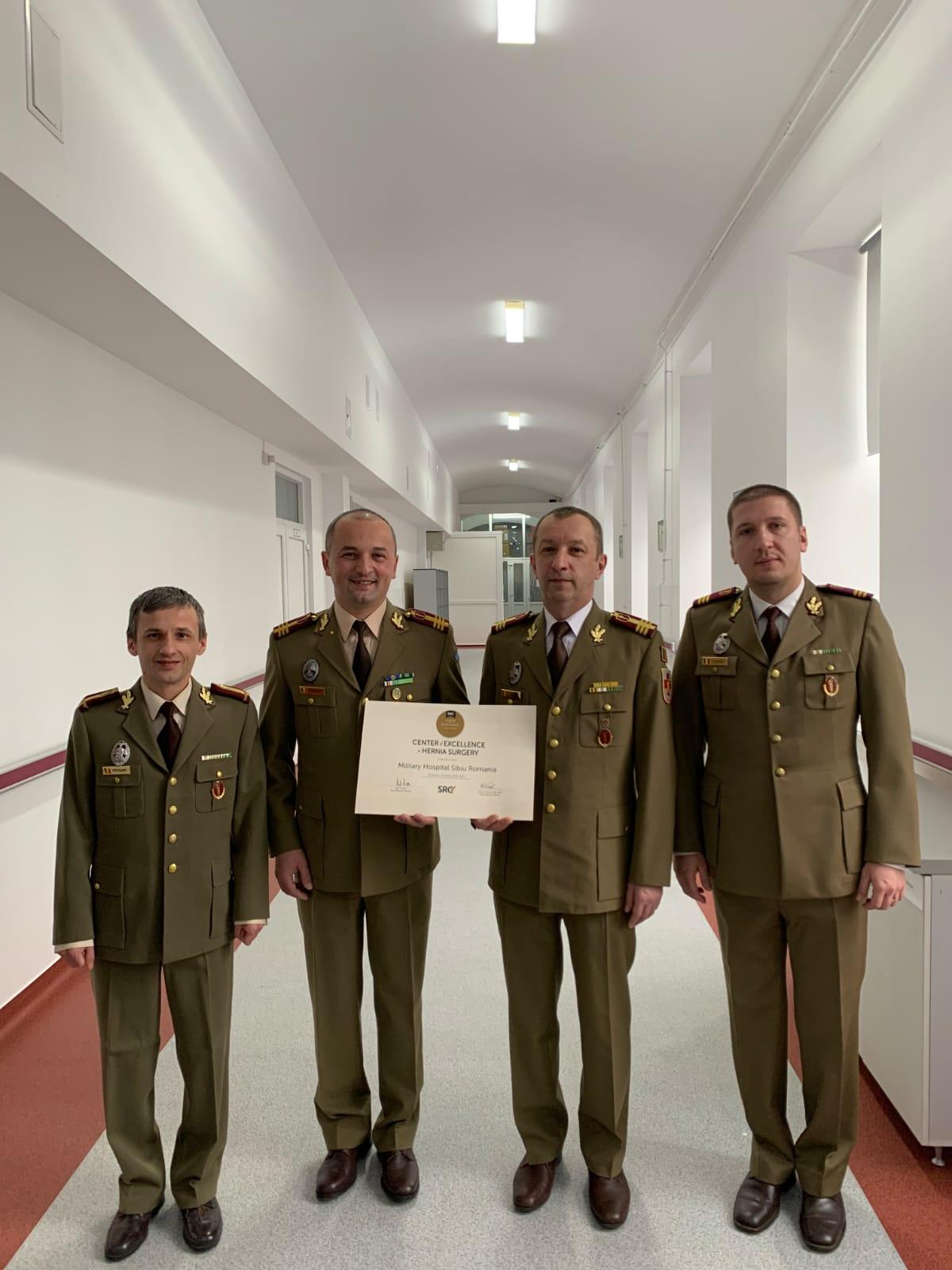 """Spitalul Militar de Urgență """"dr. Alexandru Augustin"""" Sibiu - acreditat ca """"Centru de Excelență"""" în chirurgia herniei"""