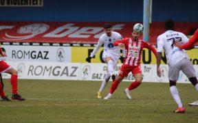 Gaz Metan a pierdut la limită, scor 1-2, partida cu UTA Arad