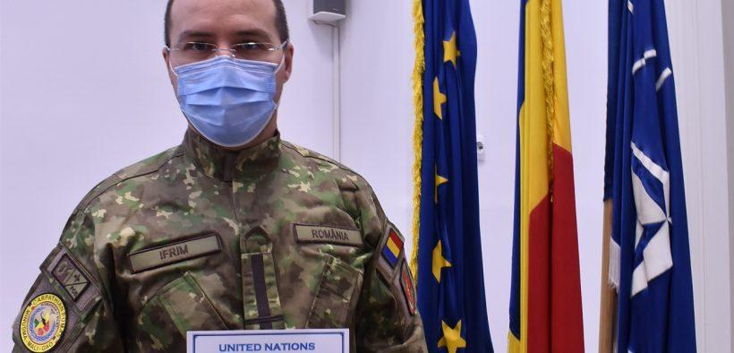 "Medicul ofițer Sorin Ifrim, medaliat cu ""THE UNITED NATIONS MEDAL"" pentru profesionalismul lui"