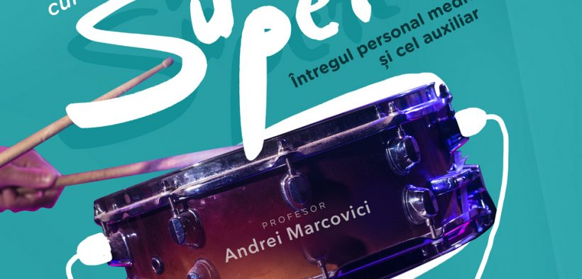Percuţionistul Andrei Marcovici oferă gratuit cursuri de percuţie pentru cadrele medicale