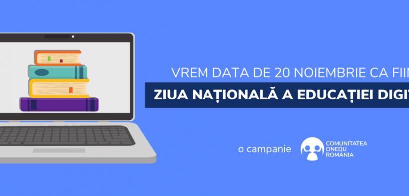 APEL PUBLIC pentru declararea Zilei Naționale a Educației Digitale