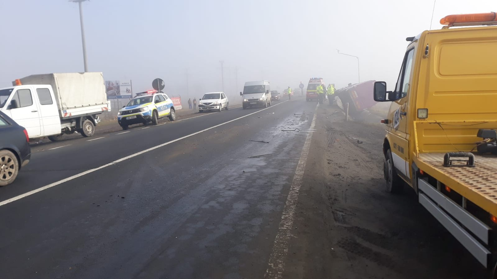 Actualizare- Accident grav în Avrig, cu 3 mașini implicate