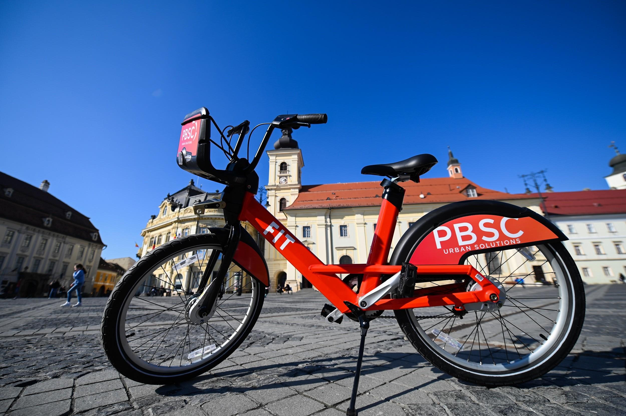 Primăria Sibiu începe amenajarea a 44 de centre publice pentru închirieri de biciclete