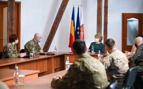 Delegați a Batalionului CIMIC România și a Diviziei de Afaceri Civile americane, vizită de lucru la Primăria Sibiu