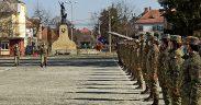 Ceremonial militar cu prilejul înaintării în gradul de sergent a absolvenților
