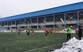 Echipele Clubului Gaz Metan Mediaș s-au duelat într-un meci amical