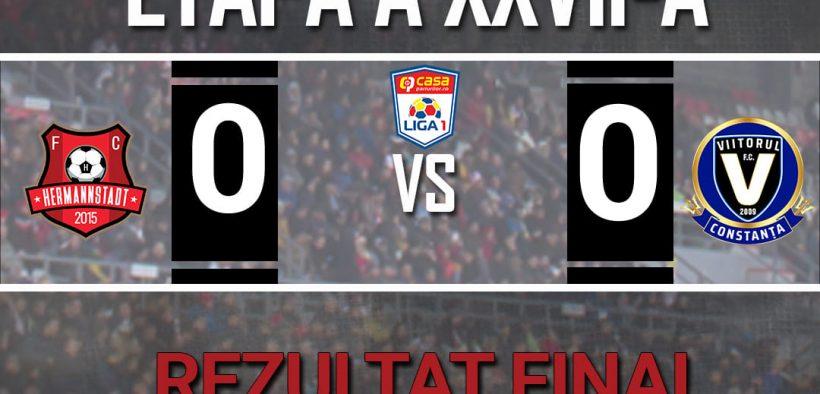 FC Hermannstadt și FC Viitorul au remizat, scor 0-0