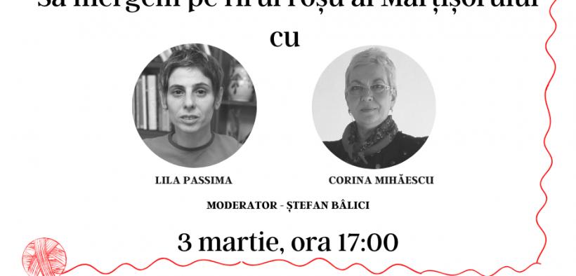 Mâine, 3 martie, mergem pe firul roșu al Mărțișorului