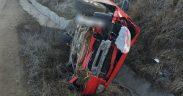 Femeie rănită într-un accident rutier la ieșire din Târnava