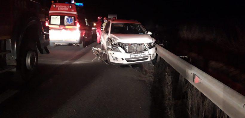 Accident în lanț pe A1- Săliște, pe sensul Sibiu-Alba