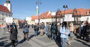Protest anti-vaccinare în Sibiu- Manifestații, și în alte orașe ale țării