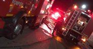 Mai multe anexe gospodărești din localitatea Apoldu de Jos au luat foc