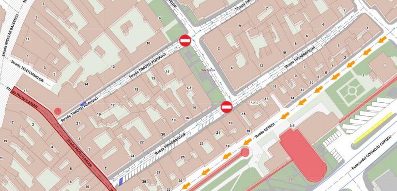 Strada Papiu Ilarian se va închide traficului săptămâna viitoare