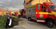 Autoaccident pe DN1, în localitatea Cristian, provocat de un șofer băut