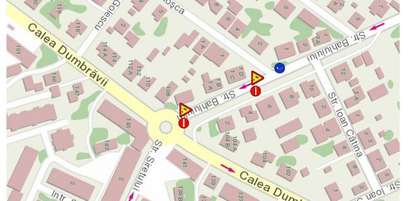 Strada Bahluiului se închide circulației în perioada 17-18 aprilie