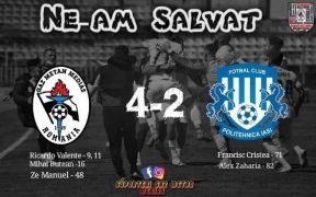 Gaz Metan continuă în liga 1 după victoria cu Iași