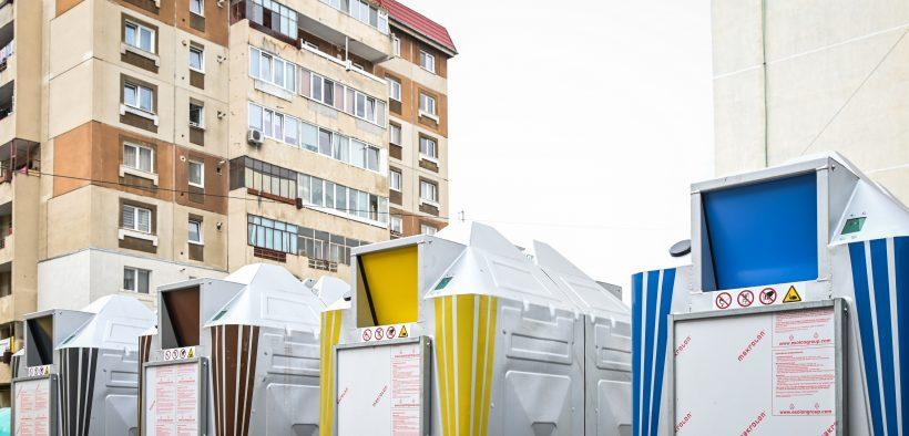 Primăria Sibiu instalează platforme noi, cu acces controlat, pentru colectarea deșeurilor în zonele de blocuri