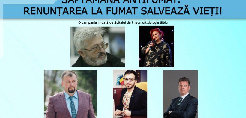 Săptămâna Antifumat: Personalitățile din lumea culturală sibiană îndeamnă cetățenii să renunțe la fumat