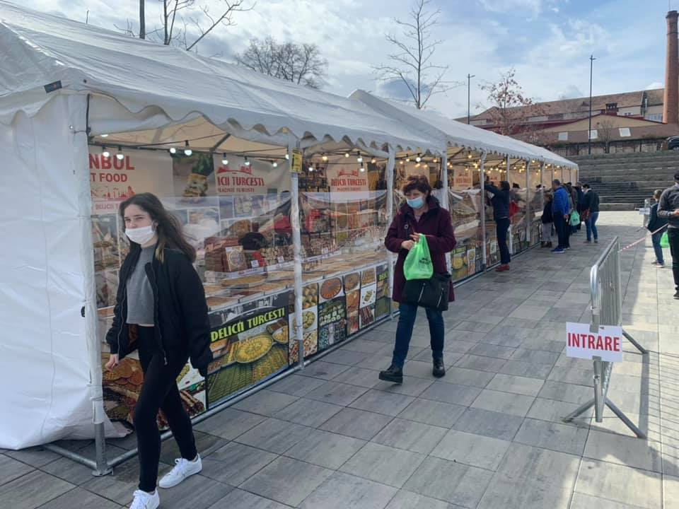 Piața Habermann, gazda evenimentului Instabul Street Food Festival