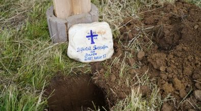 """Piatră de temelie pentru Mănăstirea """"Sfântul Serafim de Sarov"""" de la Săsăuş, judeţul Sibiu"""