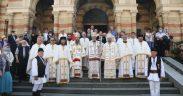Trei arhierei au liturghisit la hramul Catedralei mitropolitane din Sibiu