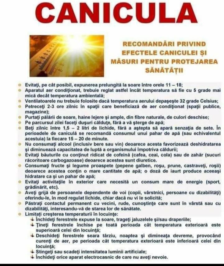 Recomandările ISU Sibiu privind protecția populației în sezonul estival