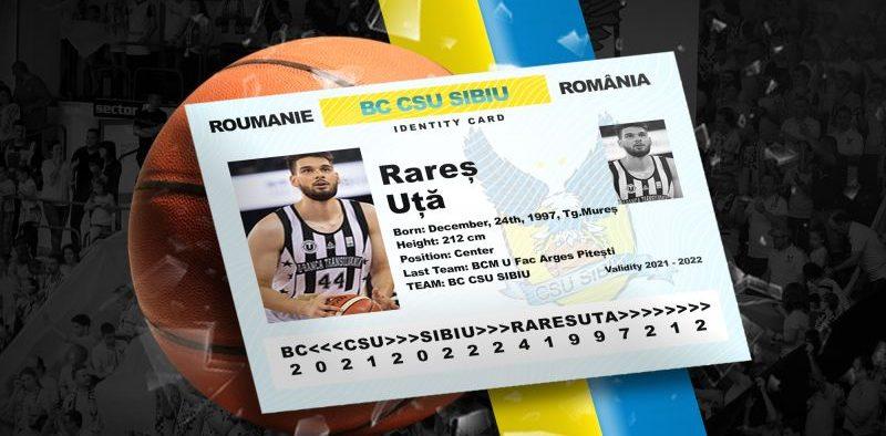 Rareș Uță va juca pentru BC CSU Sibiu în sezonul 2021/2022