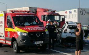 VIDEO Patru morți în urma unui accident grav petrecut la intersecția Calea Șurii Mici cu DN 7H