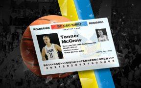 Tanner McGrew se alătură lotului BC CSU Sibiu
