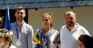 FOTO Campionii olimpici la canotaj, Ancuța Bodnar și Mihăiță Țigănescu, oaspeți de seamă în Muzeul ASTRA