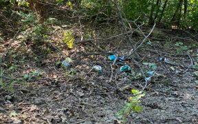 """FOTO Pădurile din Mediaș, sufocate de gunoaie - Primarul Mediașului: """"Regret mult că avem astfel de oameni"""""""