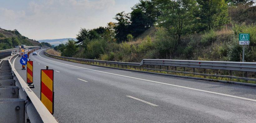 Restricții de circulație pe A1, în zona de la intrare în tunelul Săcel pe direcția Sibiu - Orăștie
