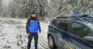 Jandarmii montani și-au reluat activitățile odată cu primii fulgi de nea