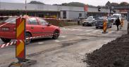 VIDEO Sens giratoriu în dreptul magazinului Kaufland, la Mediaș